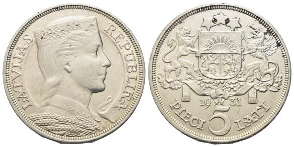 Lettland - 5 Lati 1931