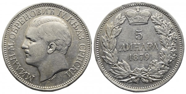 Serbien - Milan I. Obrenovic (1868)1882-1889