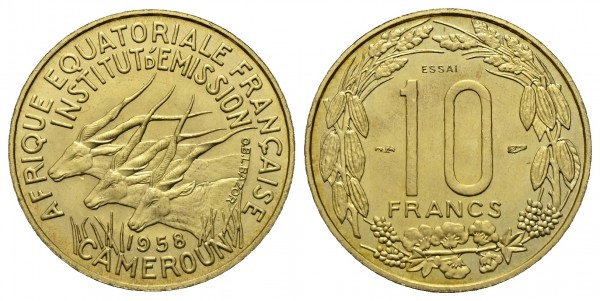Kamerun - Probe-10 Francs 1958, Paris