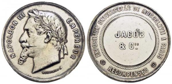 Silbermedaille-Frankreich-Napoleon-III-Ponscarme-Weltausstellung-Paris-VIA11317