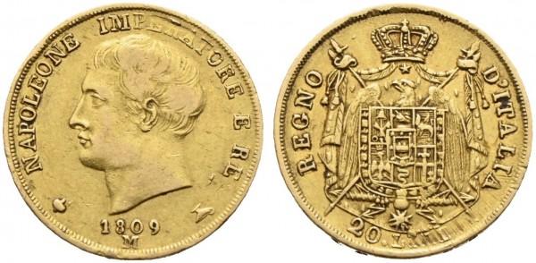 Goldmünze-Italien-Mailand-Napoleon-20-Lire-VIA11033