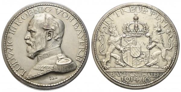 Deutschland - Bayern - Ludwig III. 1913-1918 - Medaille