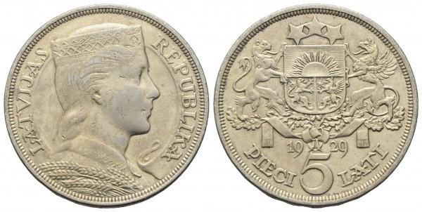 Lettland - 5 Lati 1929