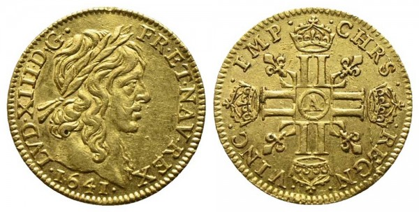 Goldmünze-Frankreich-Ludwig-XIII-VIA10432