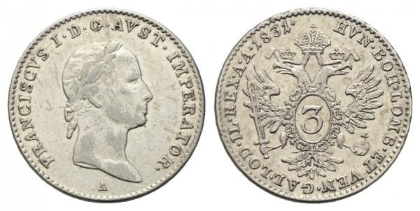 Kaiserreich Österreich – Franz I. 1806-1835 Groschen 1831 A