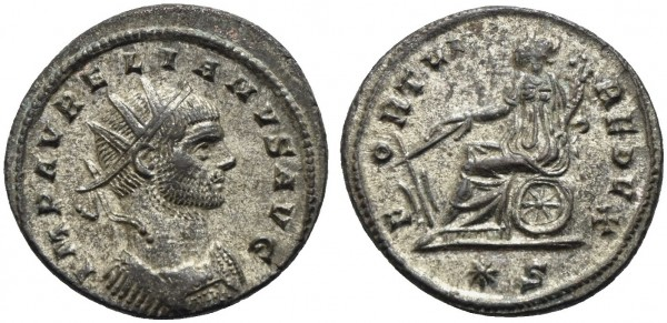 Römische-Münze-Antike-Aurelianus-Fortuna-VIA10927