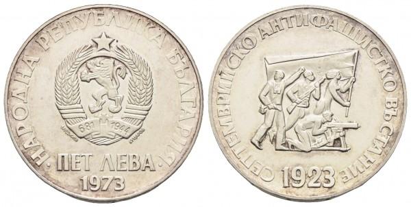Bulgarien - 5 Lewa 1973