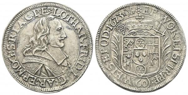 Deutschland - Mainz Erzbistum - Lothar Friedrich von Metternich 1673-1675
