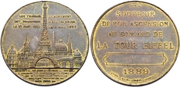 Medaille-Frankreich-Paris-Eiffelturm-VIA11077