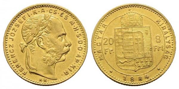 Goldmünze-Österreich-Franz-Joseph-20Fr-8Frt-VIA11020