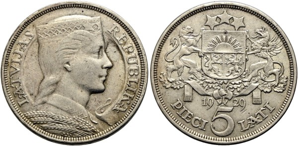 Münze-Lettland-5-Lati-VIA11094