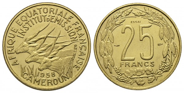 Kamerun - Probe-25 Francs 1958, Paris