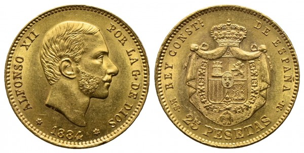 Spanien - Alfonso XII. 1874-1885