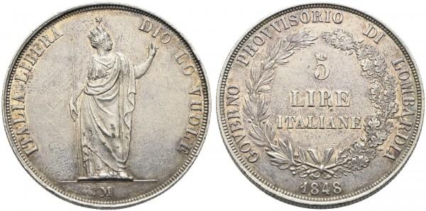 Münze-Italien-Lombardei-Venetien-Revolution-VIA10798
