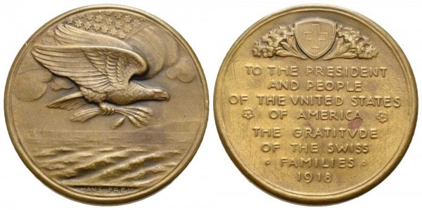Schweiz - Medaille - Hans Frei